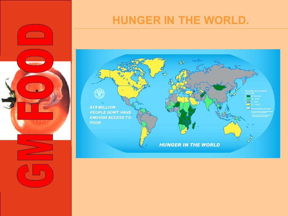 HUNGER IN THE WORLD.