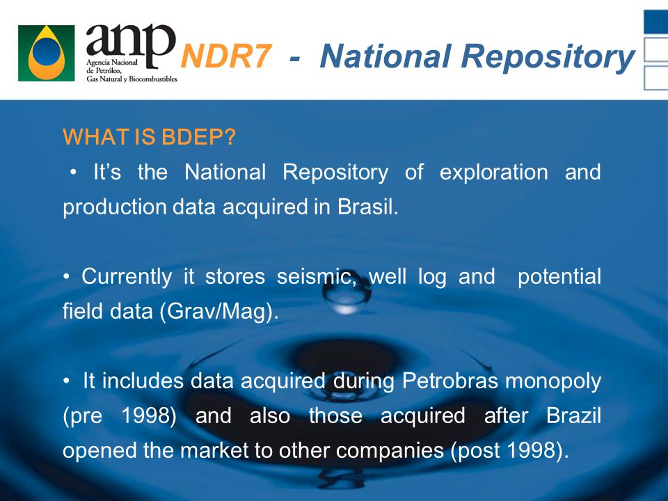 NDR7 - National Repository WHAT IS BDEP.