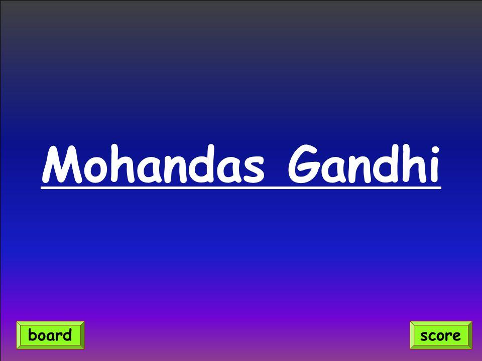 Mohandas Gandhi scoreboard