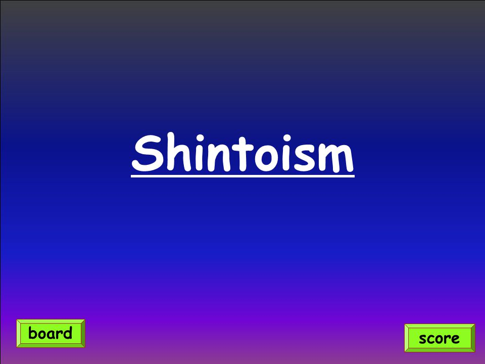 Shintoism score board