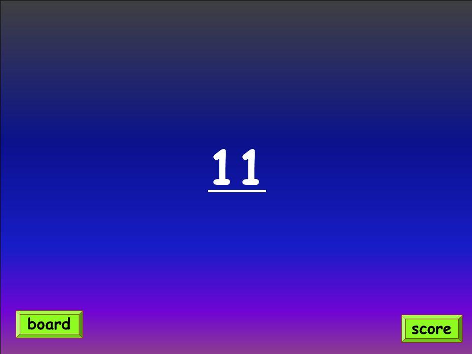 11 score board