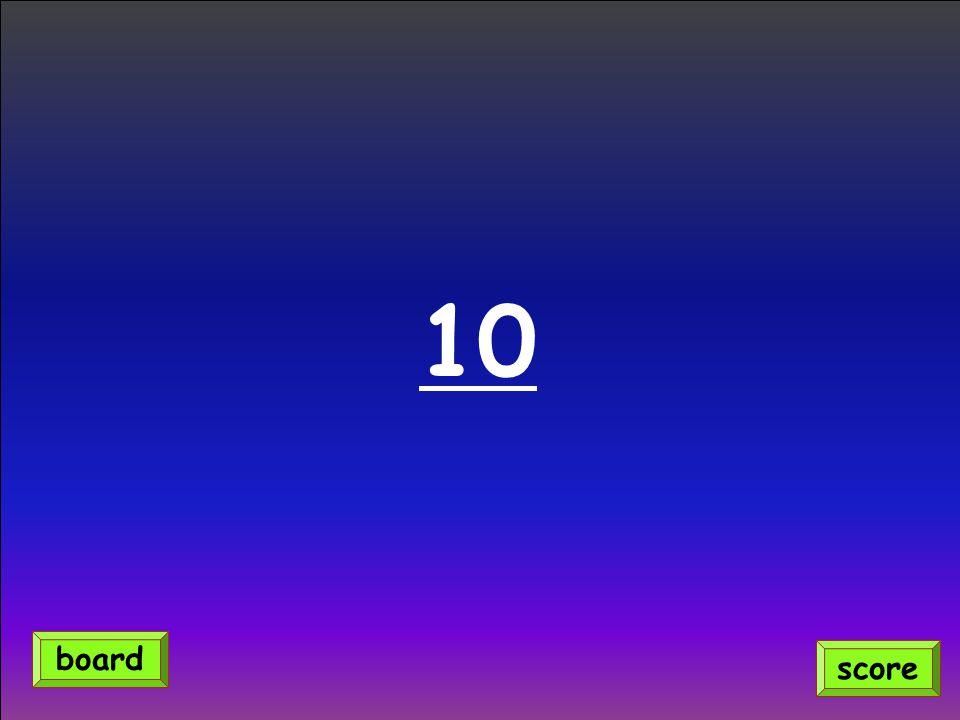 10 score board