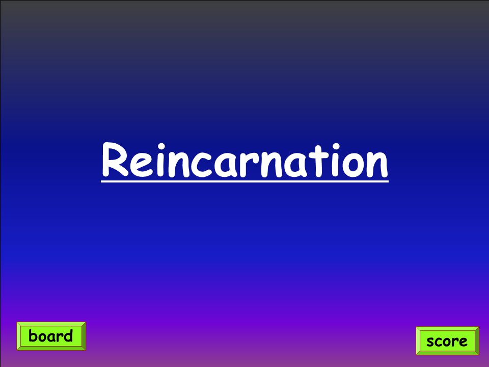 Reincarnation score board