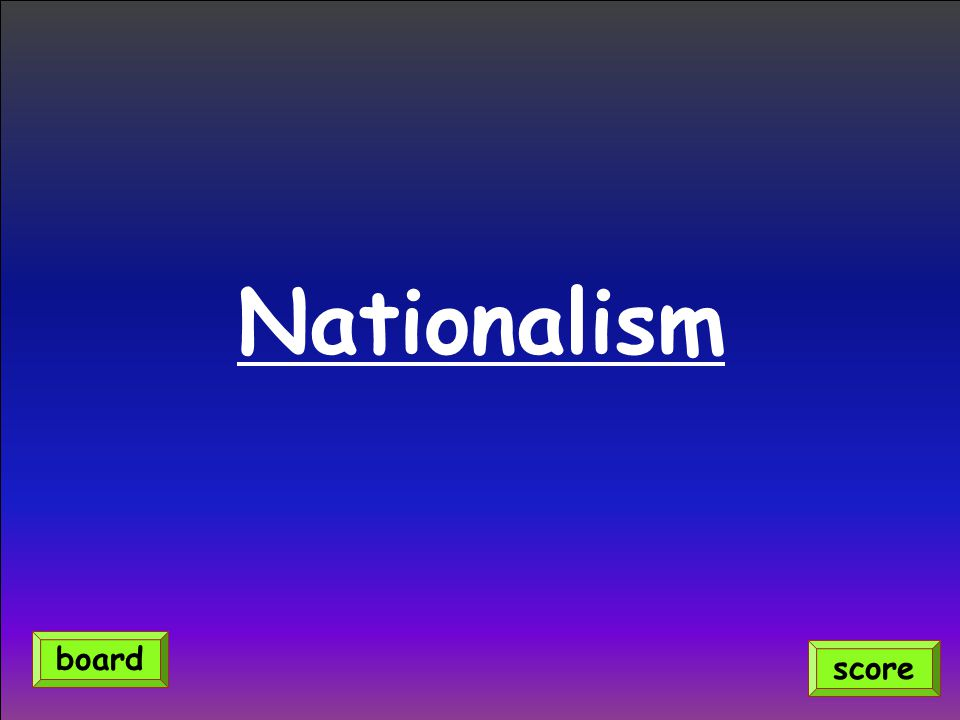 Nationalism score board