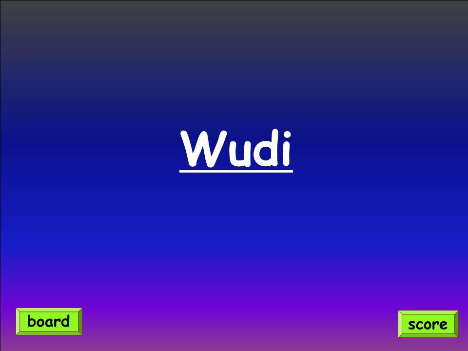 Wudi score board