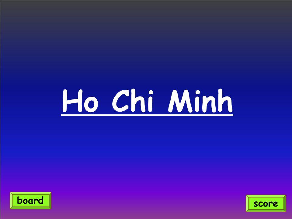 Ho Chi Minh score board