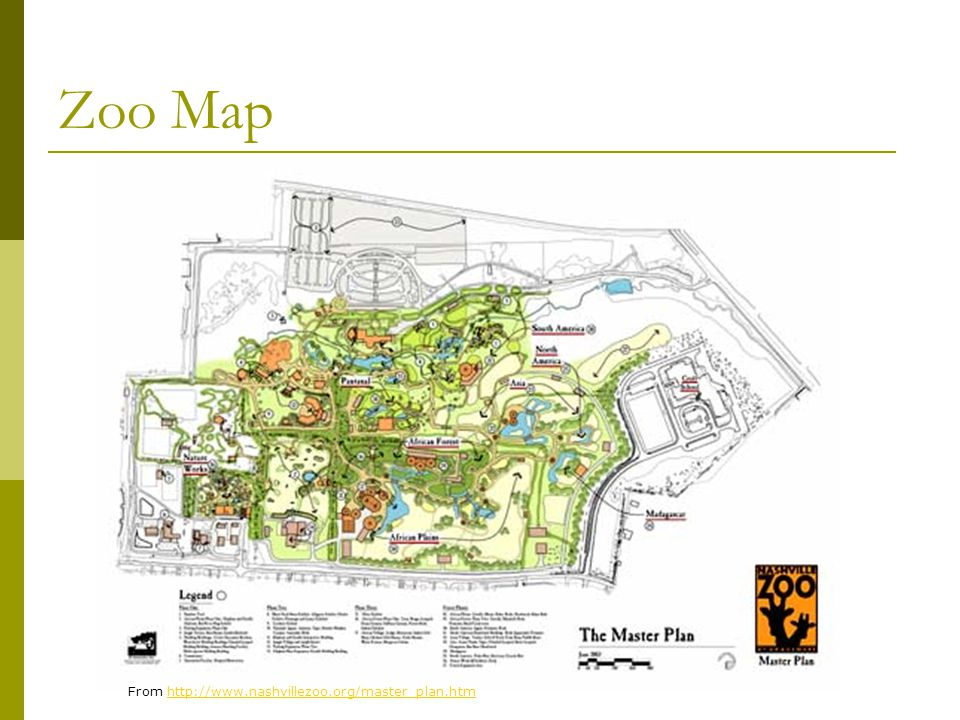 Zoo Map From http://www.nashvillezoo.org/master_plan.htmhttp://www.nashvillezoo.org/master_plan.htm