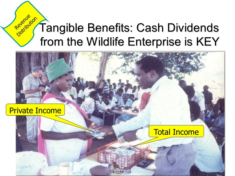 Tangible Benefits: Cash Dividends from the Wildlife Enterprise is KEY Total Income Private Income Revenue Distribution