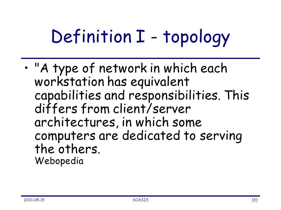 2001-05-15SOASIS[8] Definition I - topology