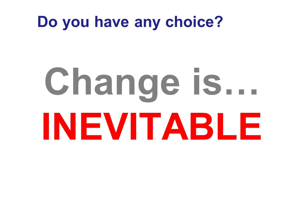 Change is…