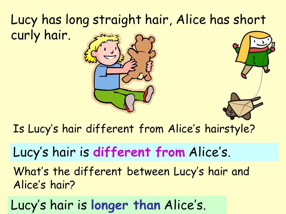 Afro's fur is bushy, Dolly's fur is short.AfroDolly Afro's fur is different from Dolly's.