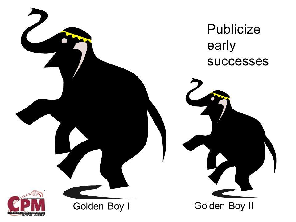 Publicize early successes Golden Boy I Golden Boy II