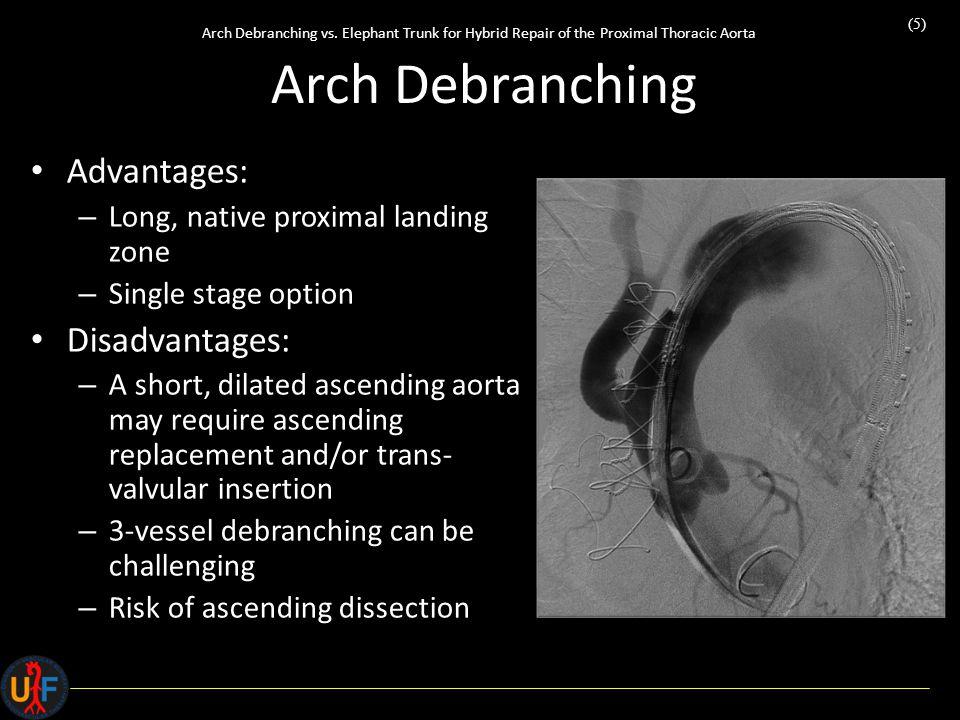 (5) Arch Debranching vs.