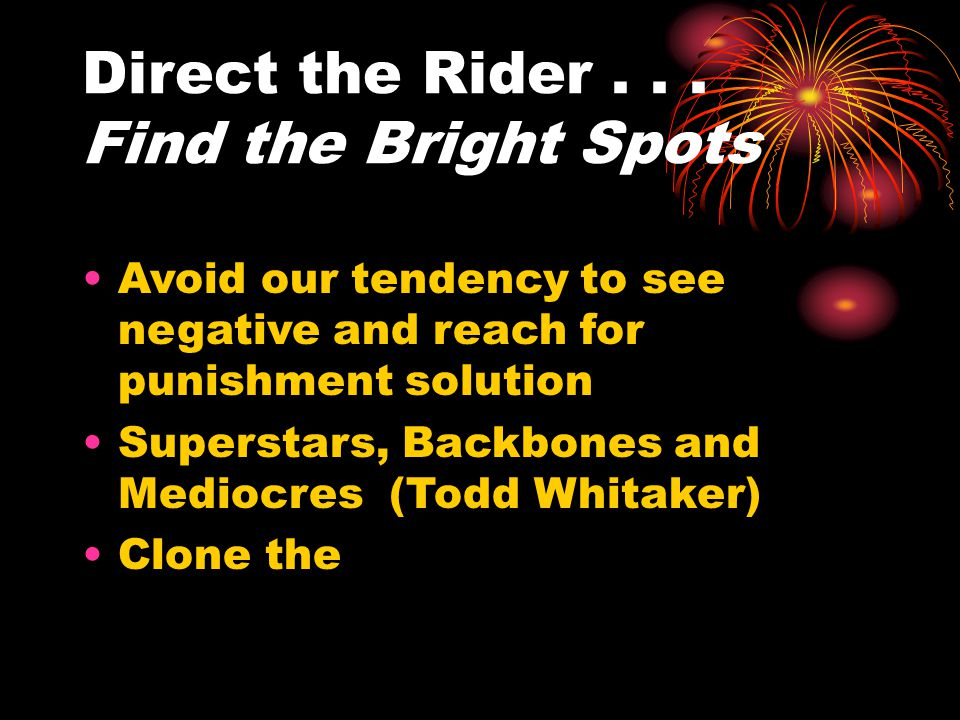 Direct the Rider...
