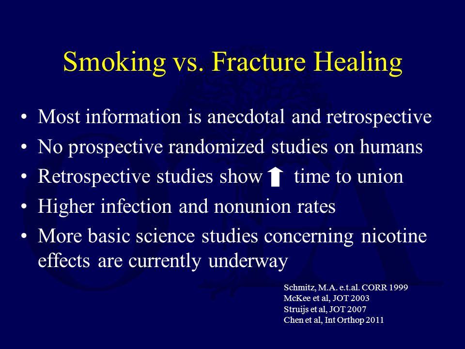 Smoking vs.