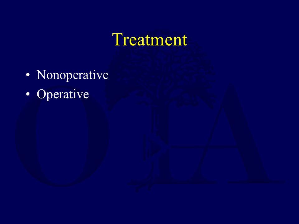 Treatment Nonoperative Operative