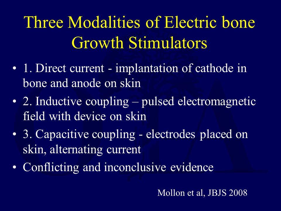 Three Modalities of Electric bone Growth Stimulators 1.