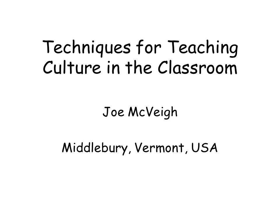 How should we teach culture.