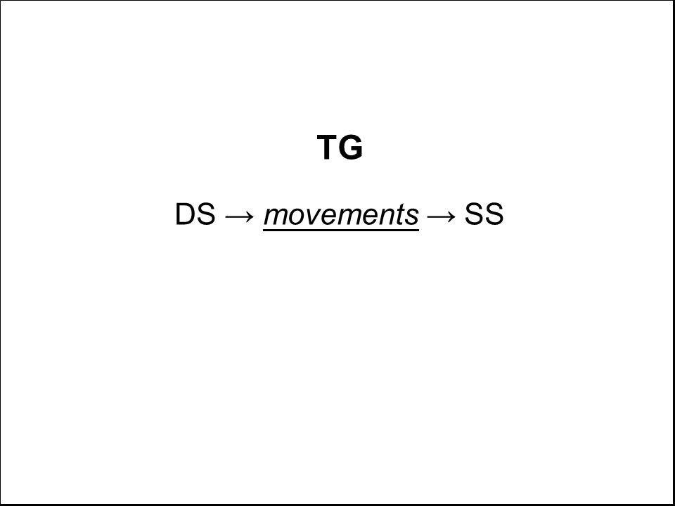 TG DS → movements → SS