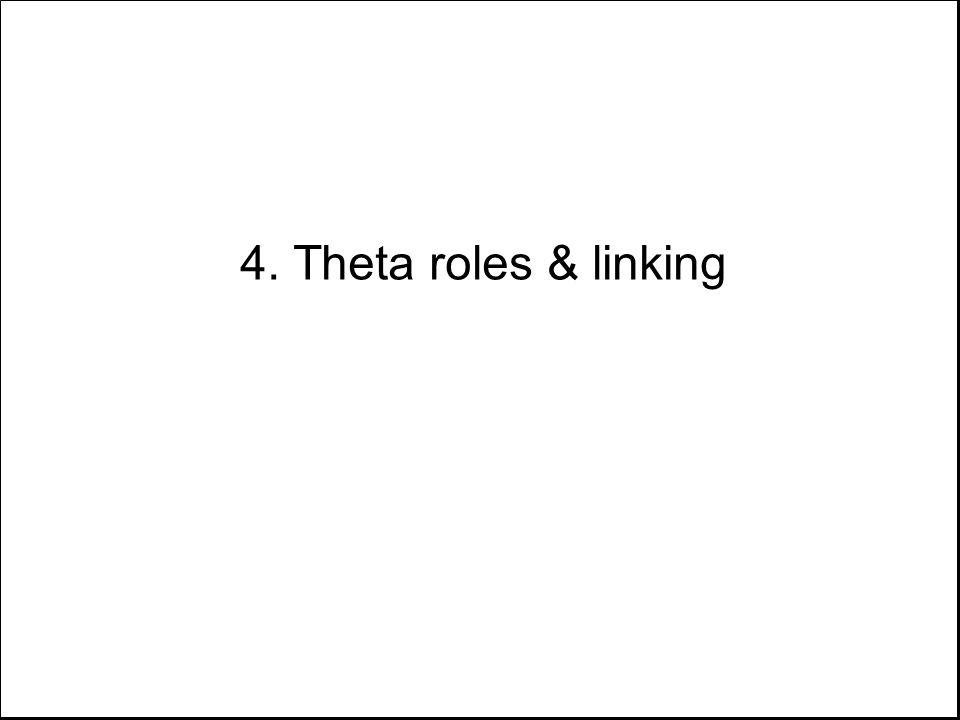 4. Theta roles & linking