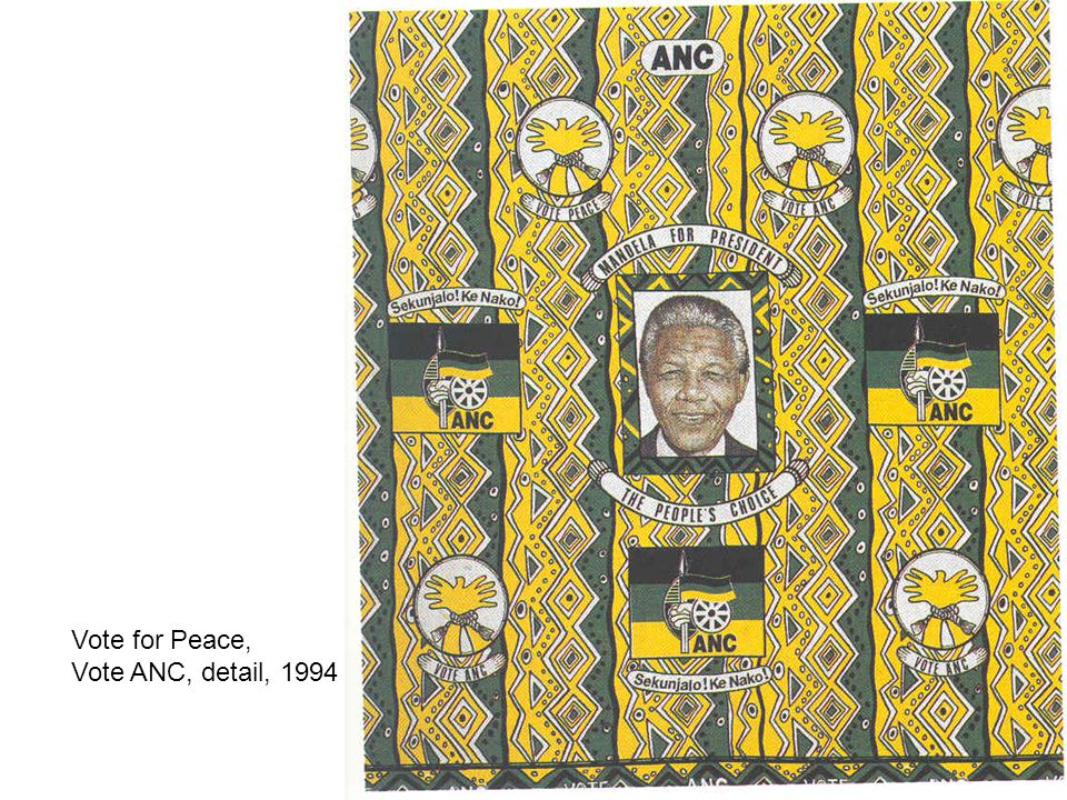 Vote for Peace, Vote ANC, detail, 1994