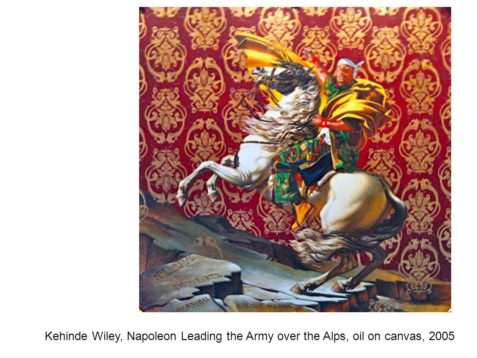 Kehinde Wiley, Napoleon Leading the Army over the Alps, oil on canvas, 2005