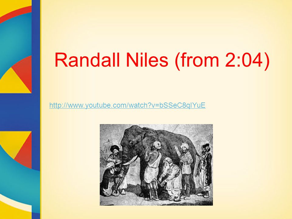 Randall Niles (from 2:04) http://www.youtube.com/watch?v=bSSeC8qIYuE