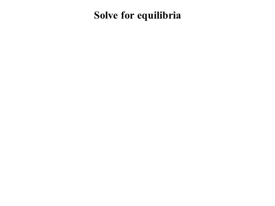 Solve for equilibria