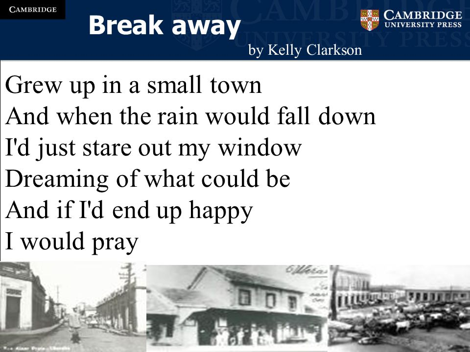 break away (ESCAPE) phrasal verb to leave or to escape from someone who is holding you: He grabbed her, but she managed to break away.