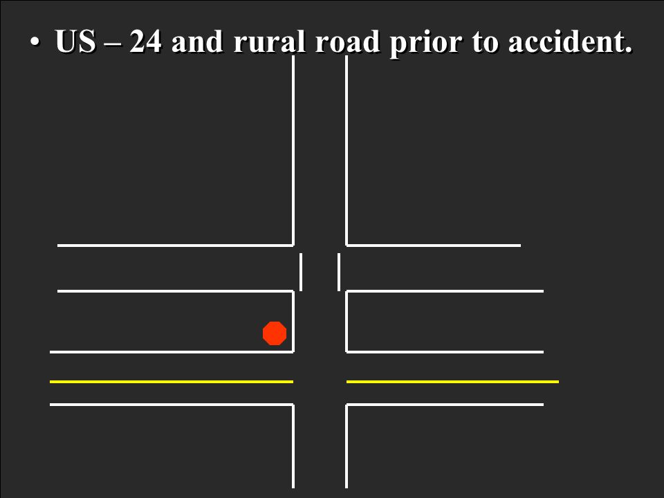 US – 24 and rural road prior to accident.