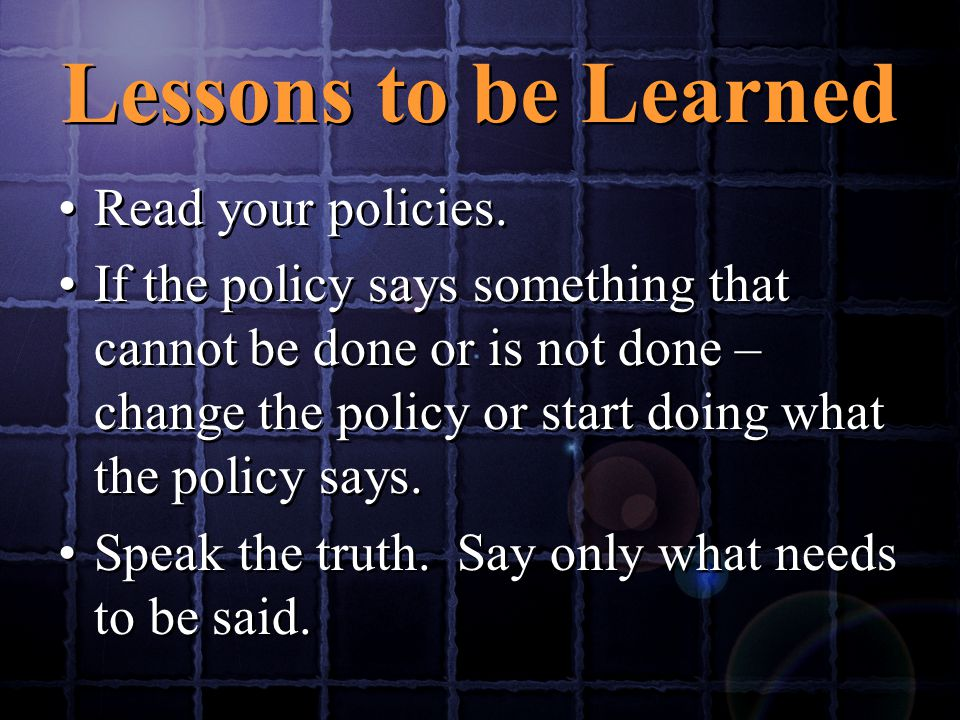 Read your policies.