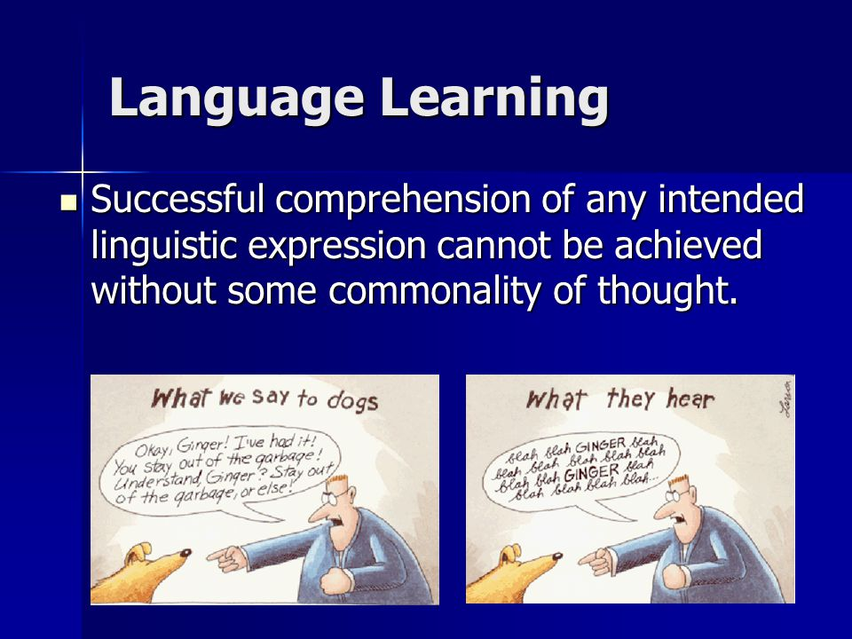 Successful comprehension of any intended linguistic expression cannot be achieved without some commonality of thought.