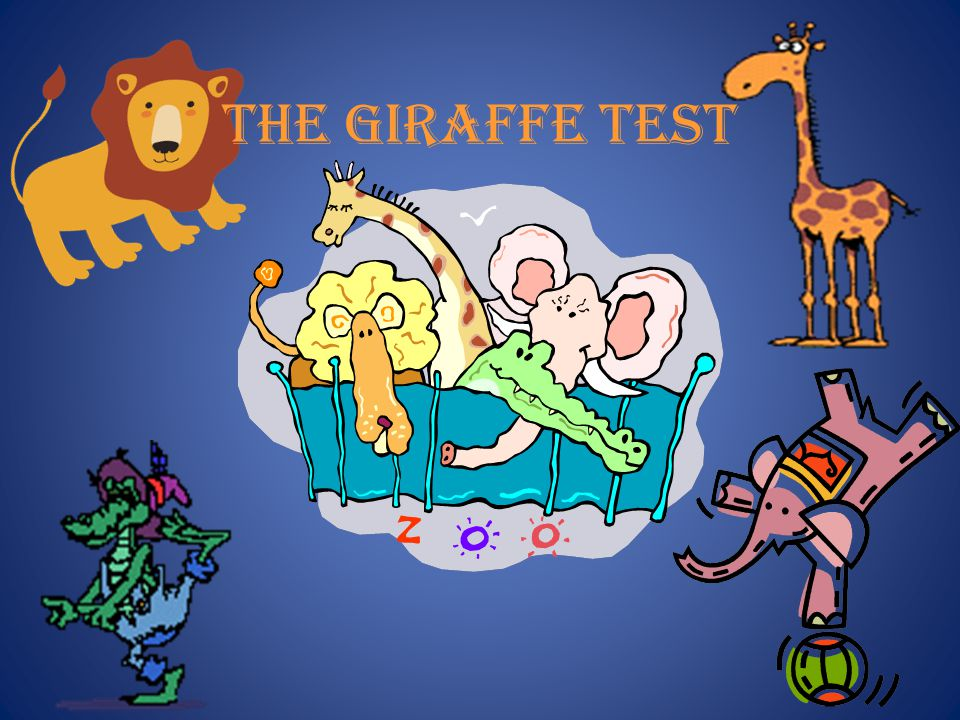 Stop and think about it and decide 1. How do you put a giraffe into a refrigerator?