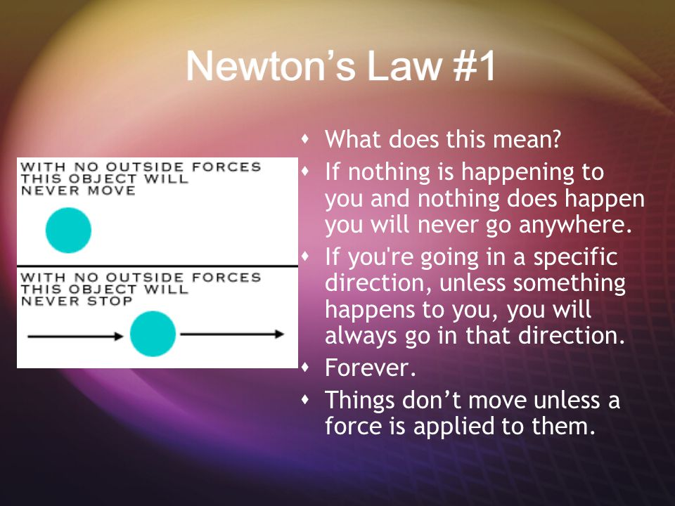 Newton's Law #1  What does this mean.