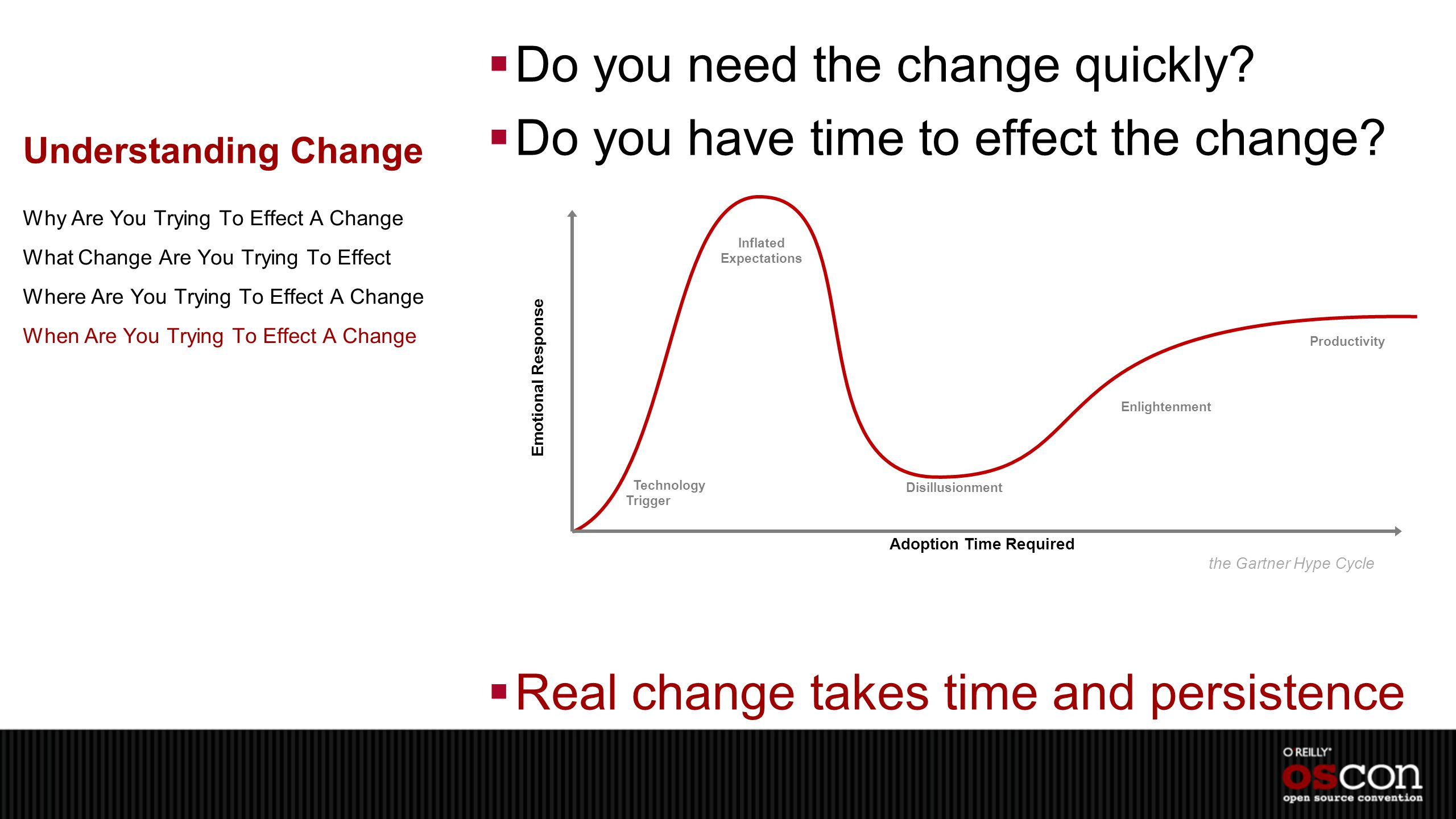 Understanding Change  Do you need the change quickly.