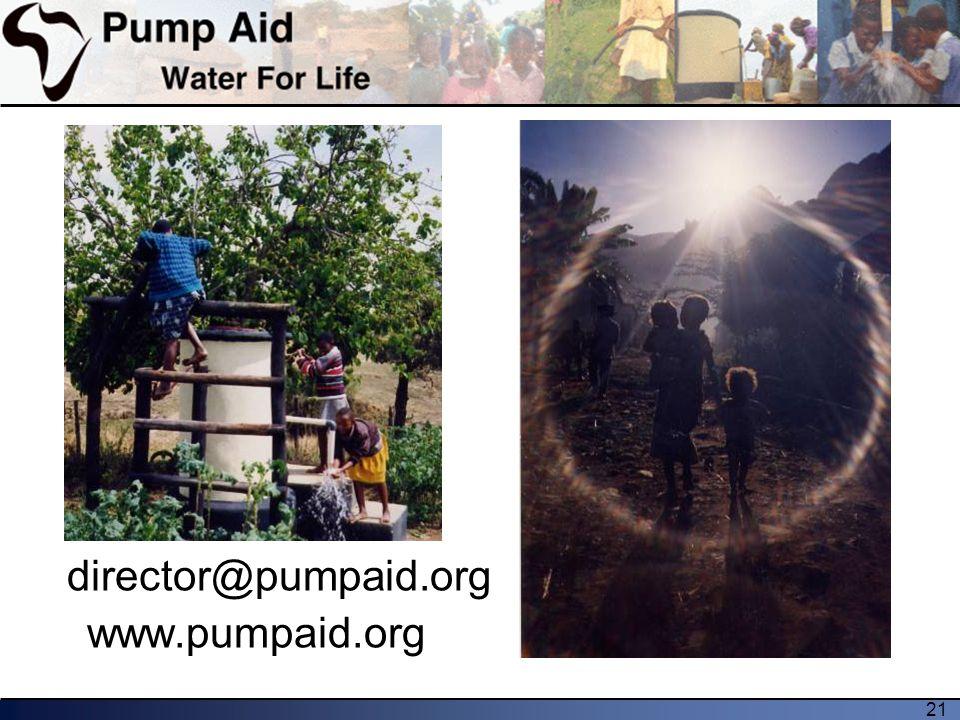 21 director@pumpaid.org www.pumpaid.org