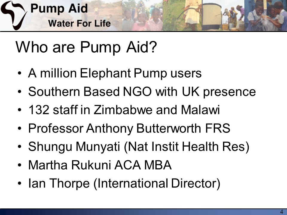 4 Who are Pump Aid.