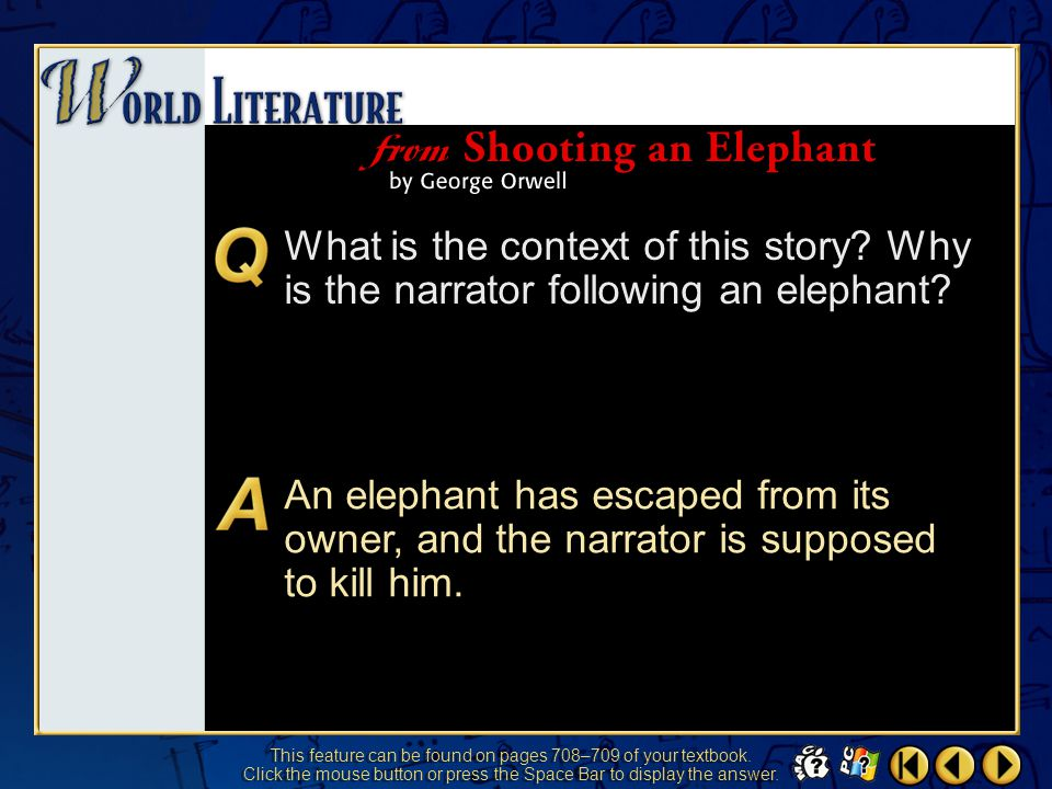 World Literature 2 What is the context of this story.