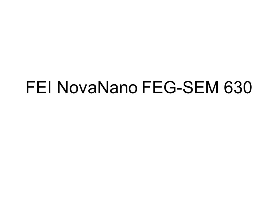 FEI NovaNano FEG-SEM 630