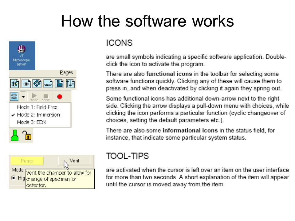 How the software works