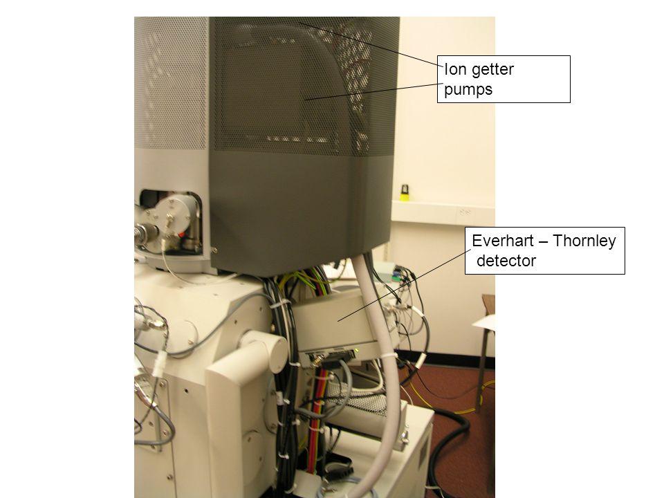 Ion getter pumps Everhart – Thornley detector