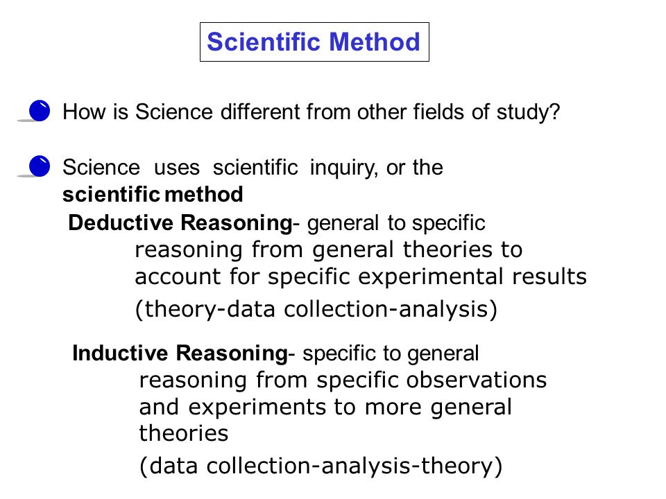 Scientific Method How is Science different from other fields of study.