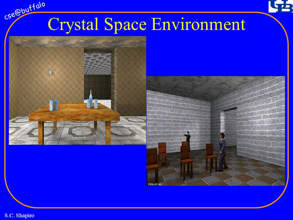 cse@buffalo S.C. Shapiro Crystal Space Environment