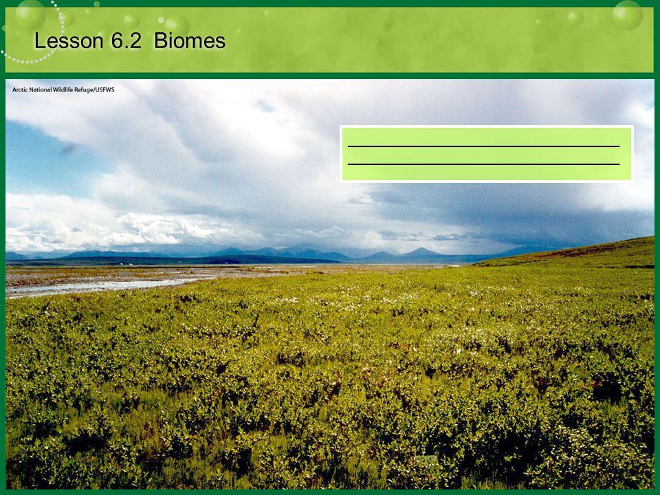 Lesson 6.2 Biomes ____________________________________________________________