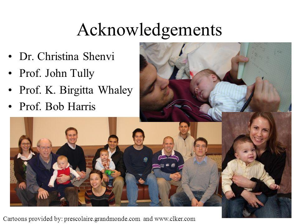 Acknowledgements Dr. Christina Shenvi Prof. John Tully Prof.