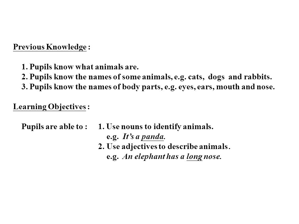P.1 English Topic: Animal World Production date : 30th May, 2000