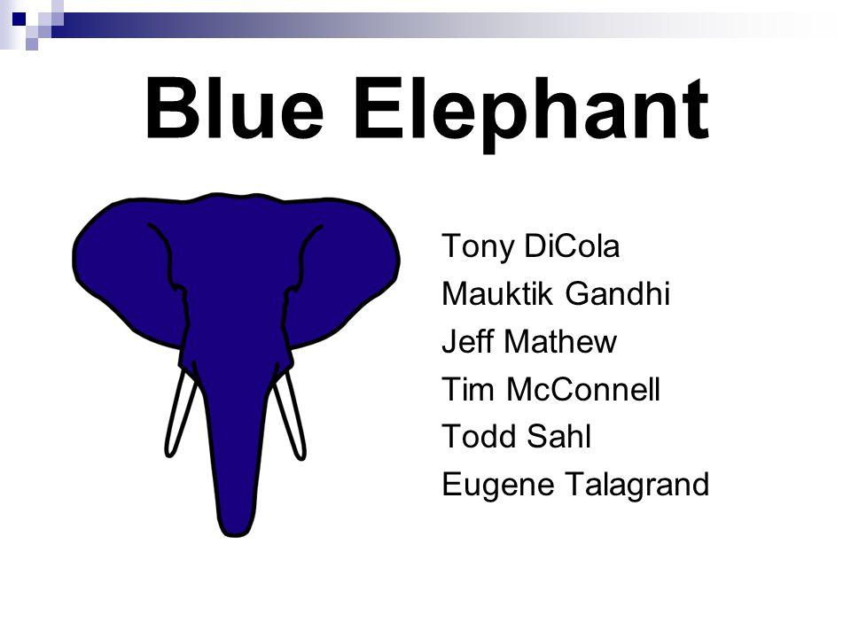 Blue Elephant Tony DiCola Mauktik Gandhi Jeff Mathew Tim McConnell Todd Sahl Eugene Talagrand