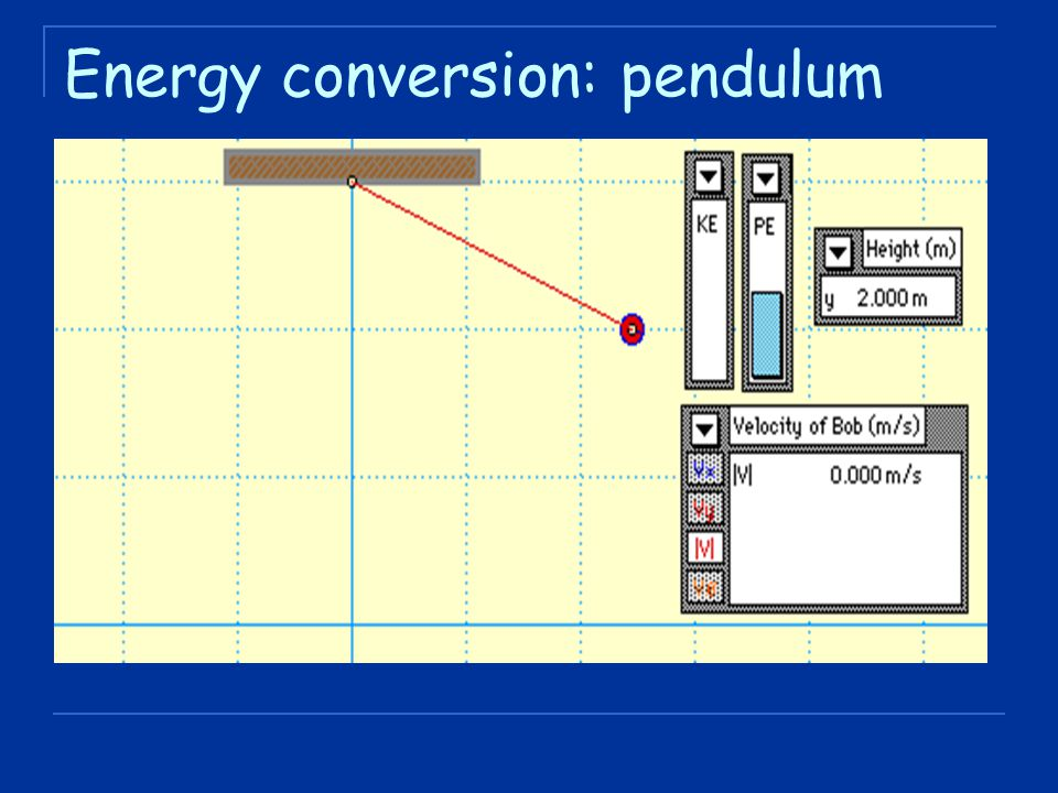 Energy conversion: pendulum