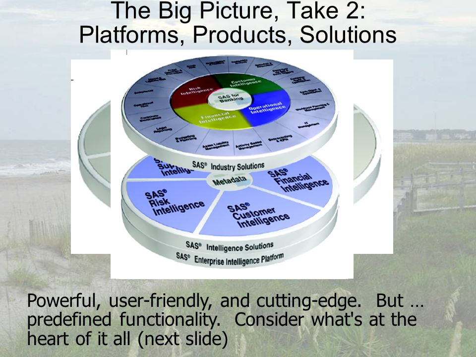 The Big Picture, Take 2: Platforms, Products, Solutions Powerful, user-friendly, and cutting-edge.