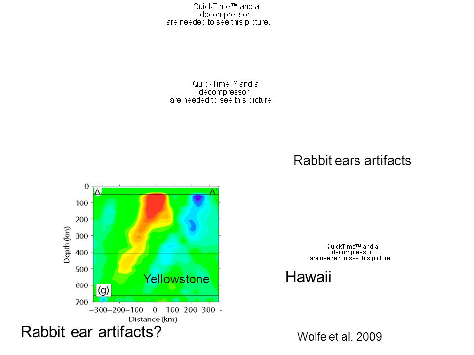 Rabbit ears artifacts Wolfe et al. 2009 Yellowstone Hawaii Rabbit ear artifacts?